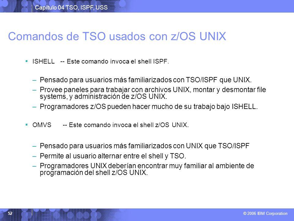 Comandos de TSO usados con z/OS UNIX