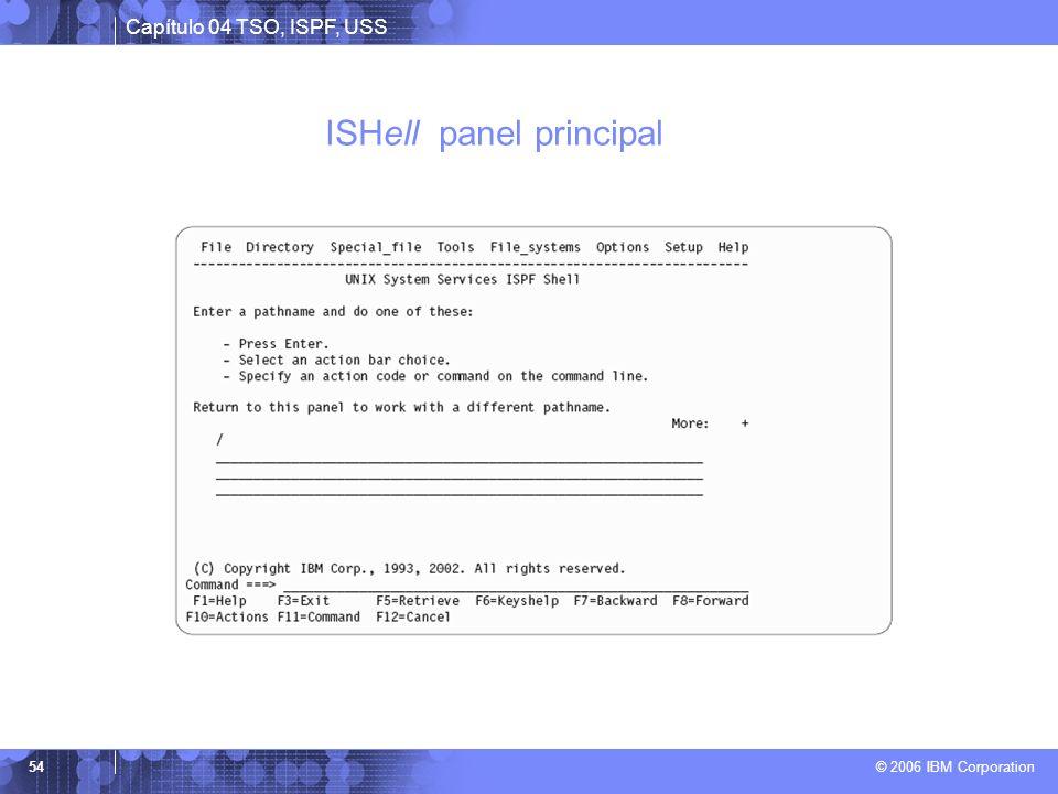 ISHell panel principal