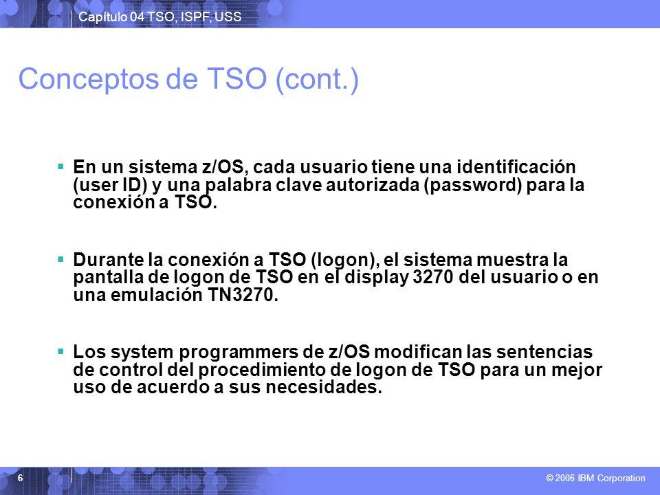 Conceptos de TSO (cont.)