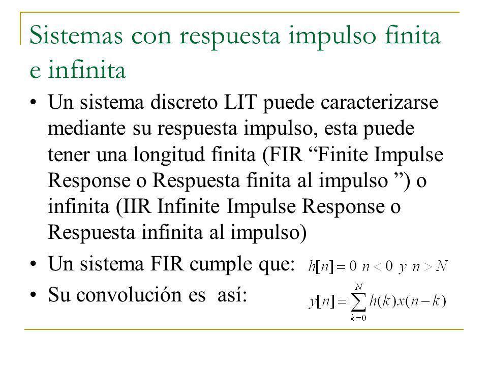 Sistemas con respuesta impulso finita e infinita