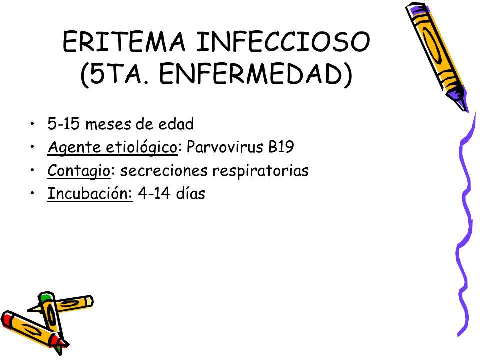 ERITEMA INFECCIOSO (5TA. ENFERMEDAD)