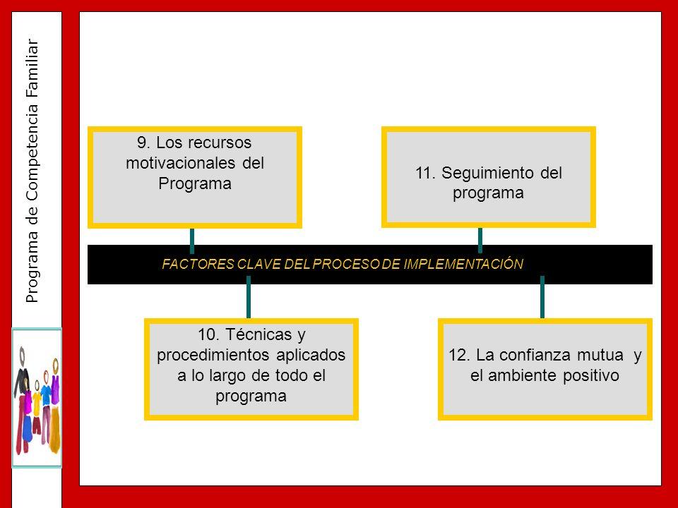 9. Los recursos motivacionales del Programa