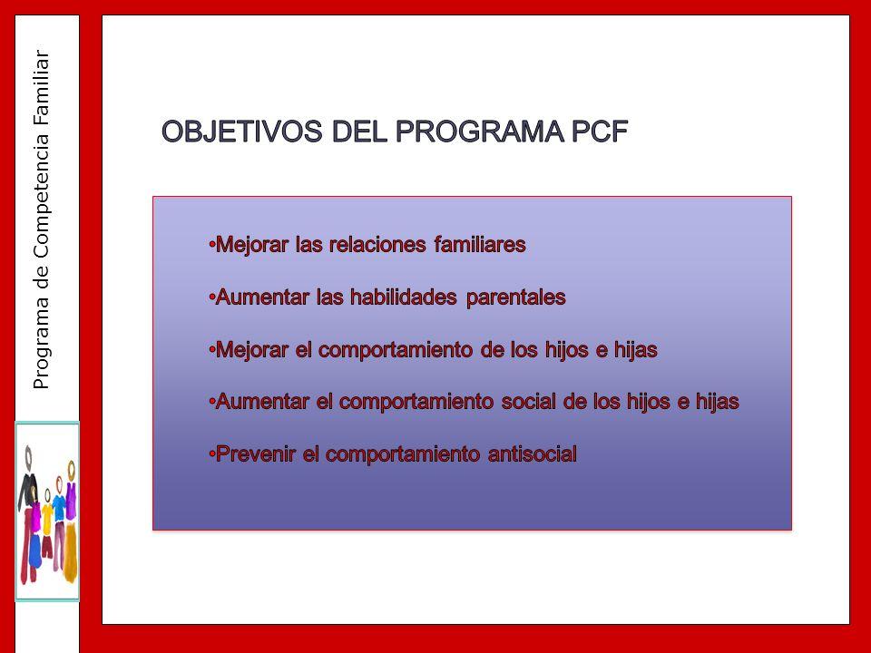 OBJETIVOS DEL PROGRAMA PCF