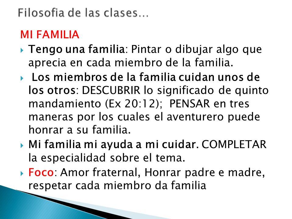 Filosofia de las clases…