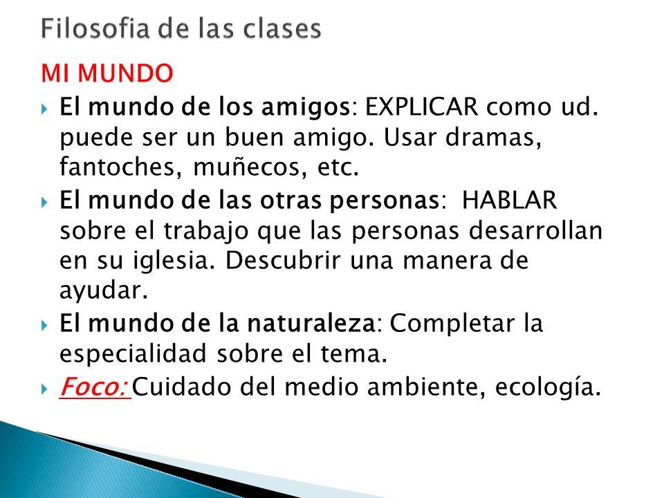 Filosofia de las clases