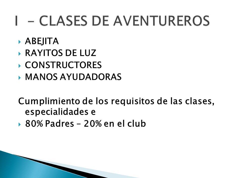 I - CLASES DE AVENTUREROS