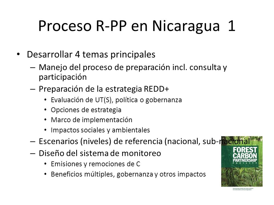 Proceso R-PP en Nicaragua 1