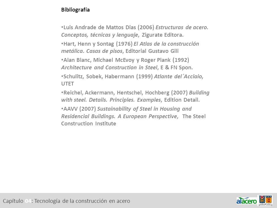 BibliografíaLuis Andrade de Mattos Dias (2006) Estructuras de acero. Conceptos, técnicas y lenguaje, Zigurate Editora.