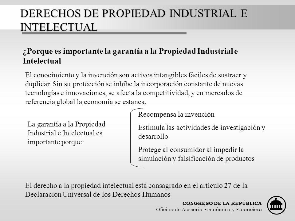DERECHOS DE PROPIEDAD INDUSTRIAL E INTELECTUAL
