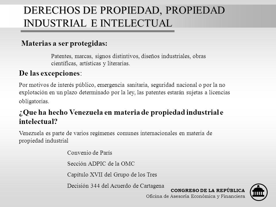 DERECHOS DE PROPIEDAD, PROPIEDAD INDUSTRIAL E INTELECTUAL