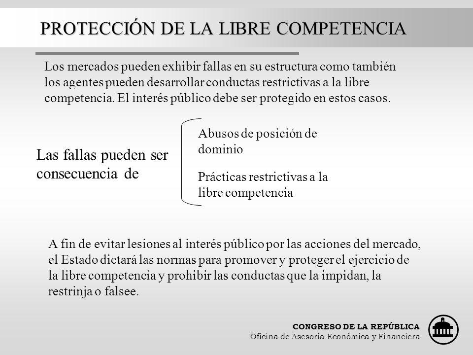 PROTECCIÓN DE LA LIBRE COMPETENCIA