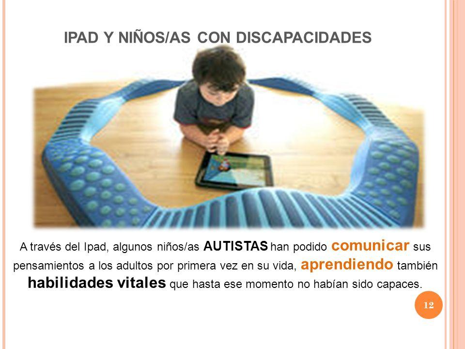 IPAD Y NIÑOS/AS CON DISCAPACIDADES