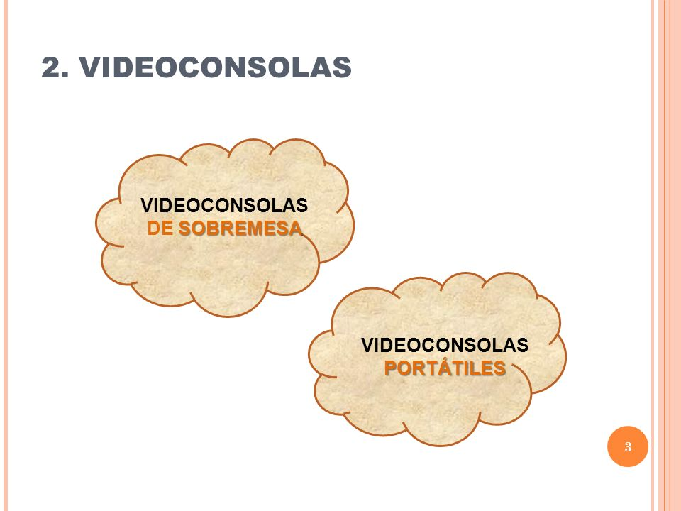 VIDEOCONSOLAS DE SOBREMESA VIDEOCONSOLAS PORTÁTILES
