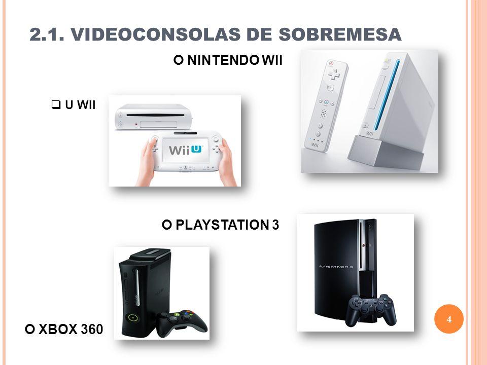 2.1. VIDEOCONSOLAS DE SOBREMESA