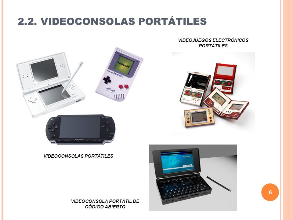 2.2. VIDEOCONSOLAS PORTÁTILES
