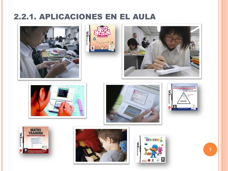 2.2.1. APLICACIONES EN EL AULA