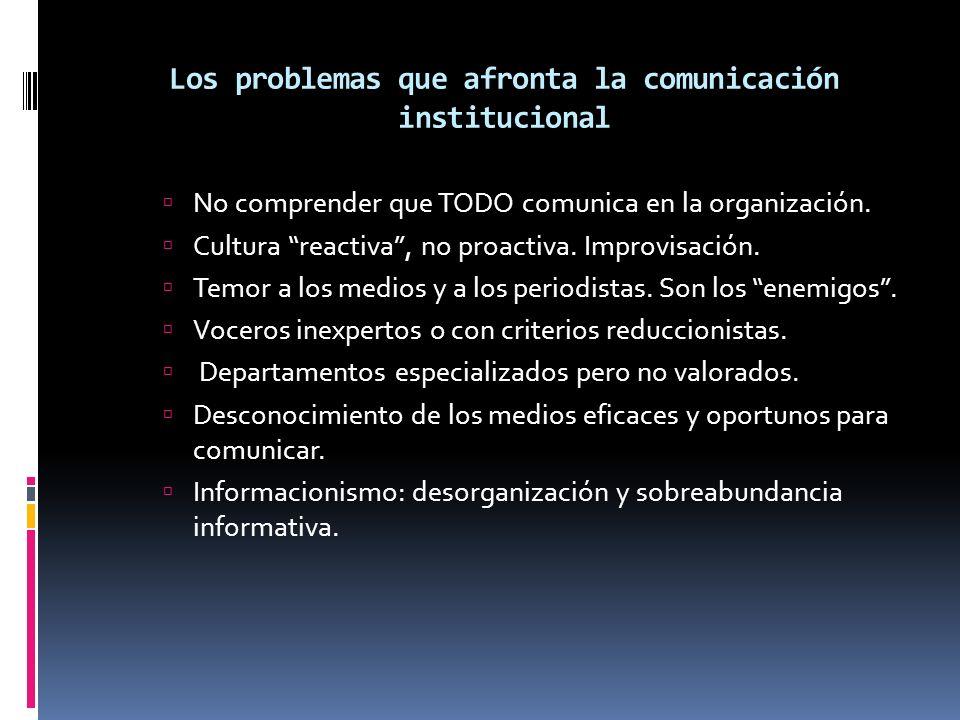 Los problemas que afronta la comunicación institucional