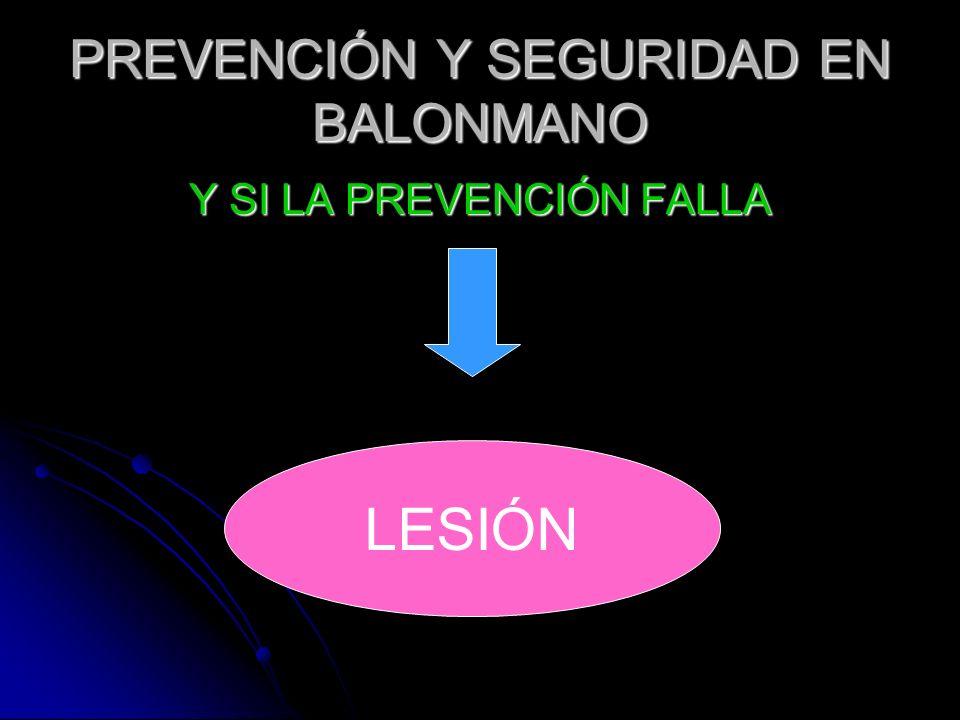 PREVENCIÓN Y SEGURIDAD EN BALONMANO