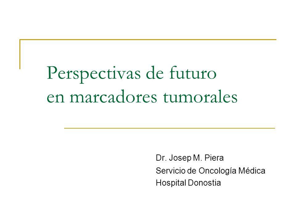 Perspectivas de futuro en marcadores tumorales