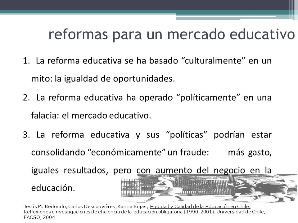 reformas para un mercado educativo