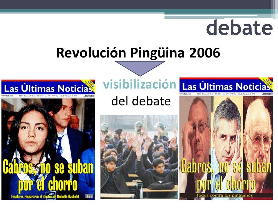 debate Revolución Pingüina 2006 visibilización del debate