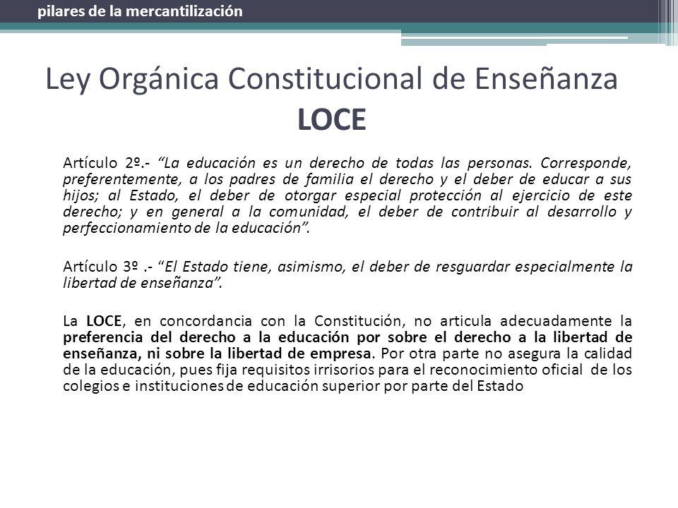 Ley Orgánica Constitucional de Enseñanza LOCE