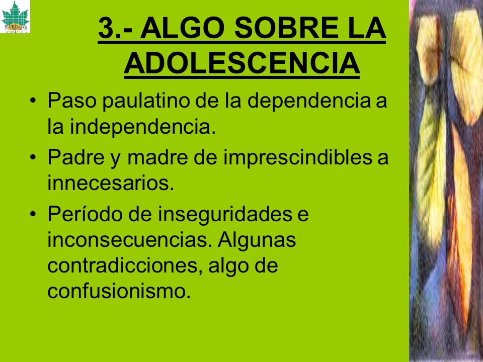 3.- ALGO SOBRE LA ADOLESCENCIA