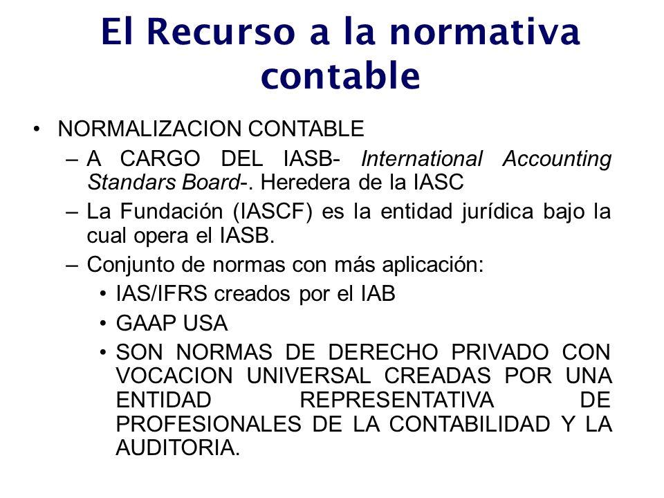 El Recurso a la normativa contable