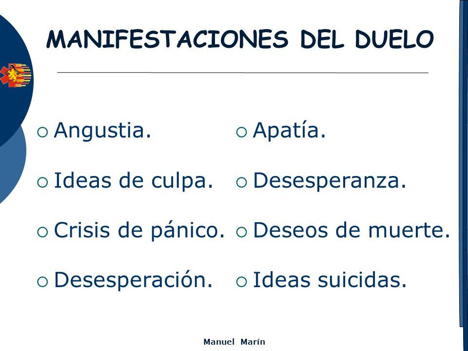 MANIFESTACIONES DEL DUELO