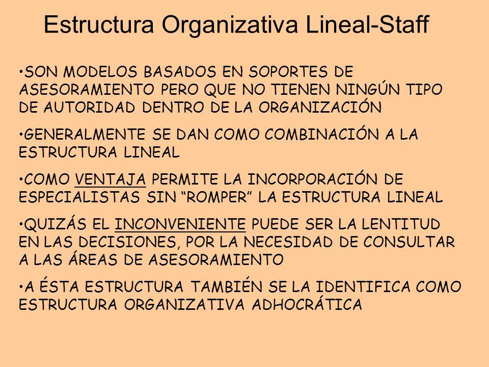 Estructura Organizativa Lineal-Staff
