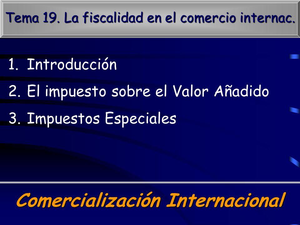 Tema 19. La fiscalidad en el comercio internac.
