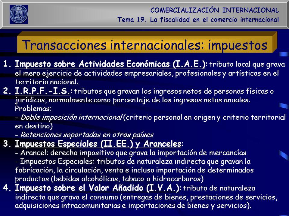 Transacciones internacionales: impuestos