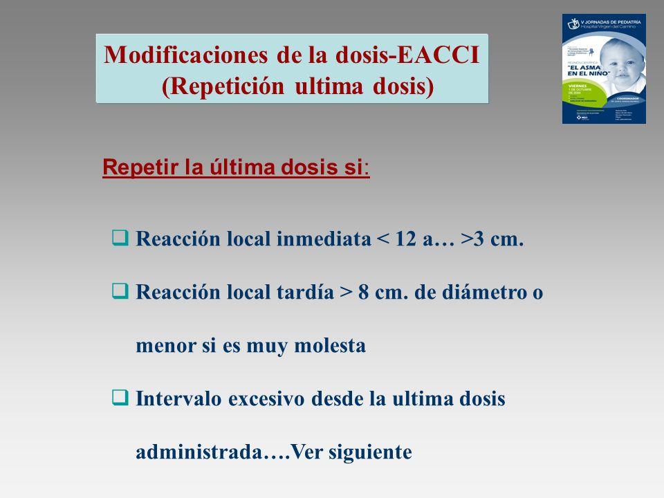 Modificaciones de la dosis-EACCI (Repetición ultima dosis)