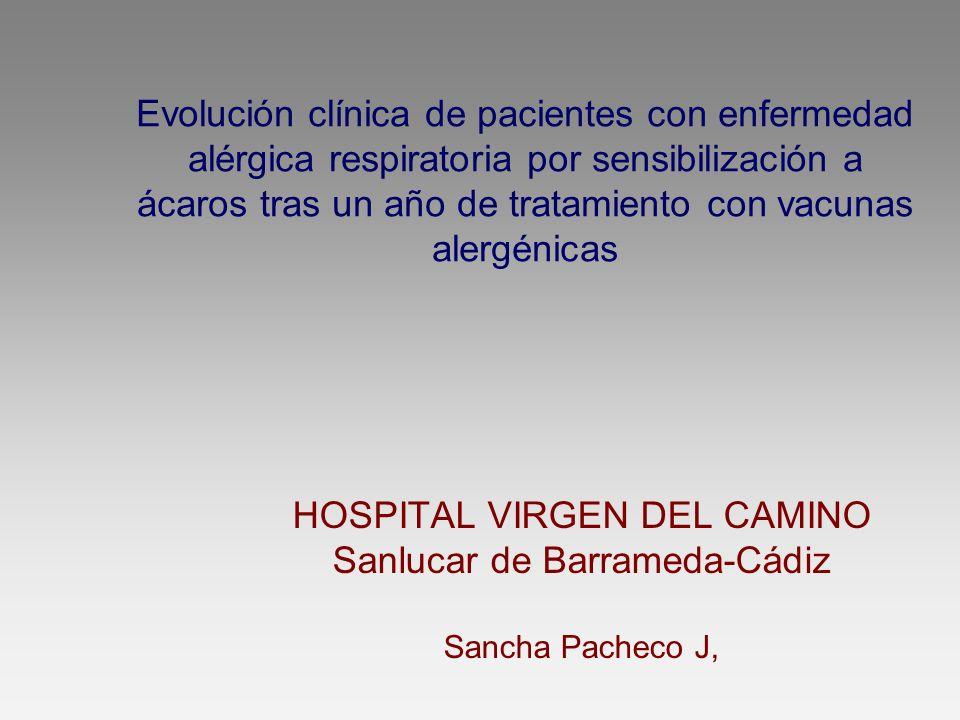 HOSPITAL VIRGEN DEL CAMINO Sanlucar de Barrameda-Cádiz