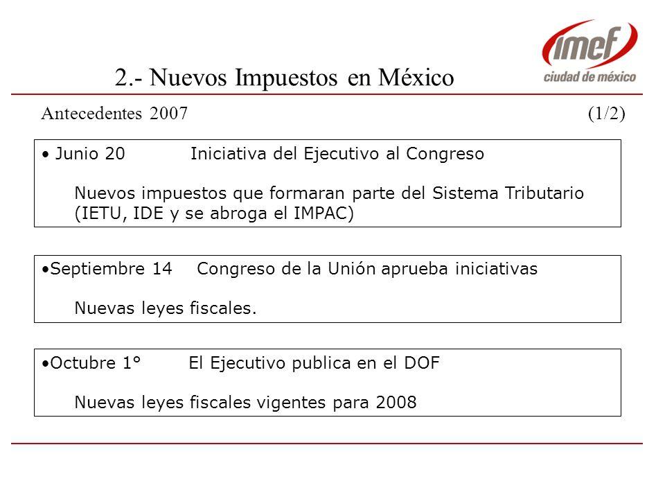 2.- Nuevos Impuestos en México