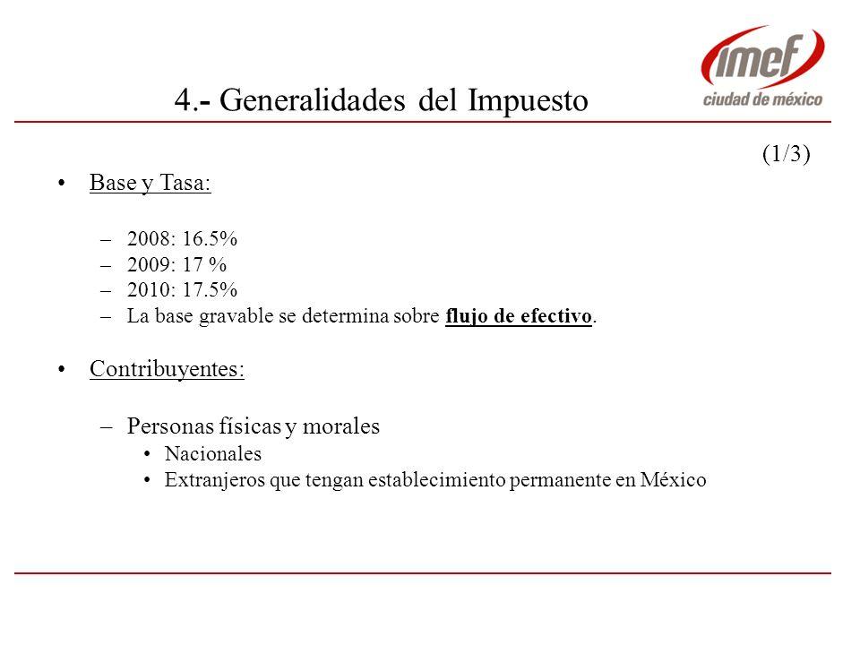 4.- Generalidades del Impuesto