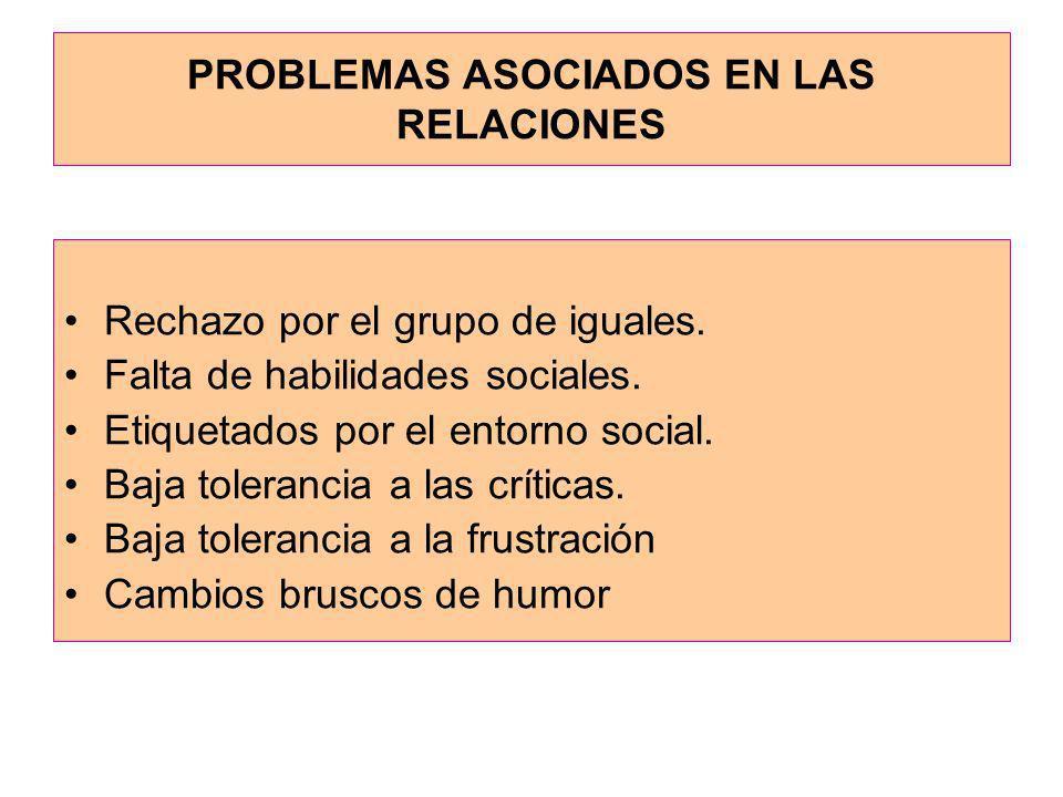PROBLEMAS ASOCIADOS EN LAS RELACIONES