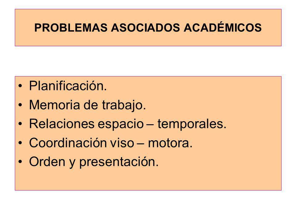 PROBLEMAS ASOCIADOS ACADÉMICOS