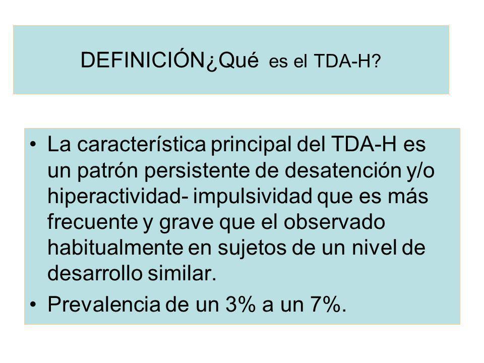 DEFINICIÓN¿Qué es el TDA-H