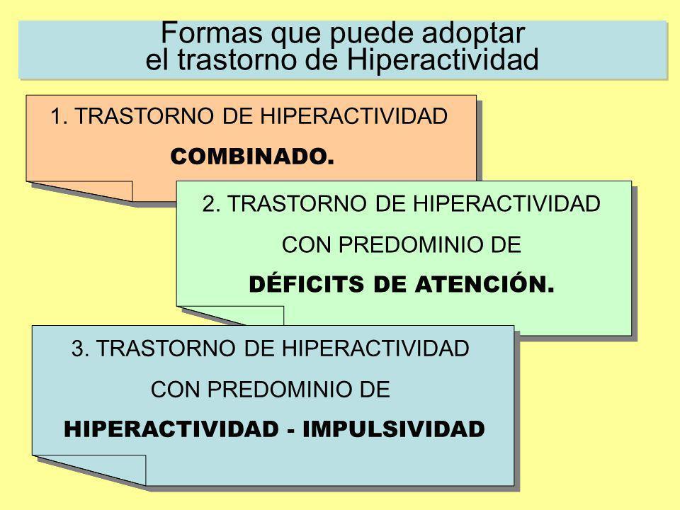 Formas que puede adoptar el trastorno de Hiperactividad