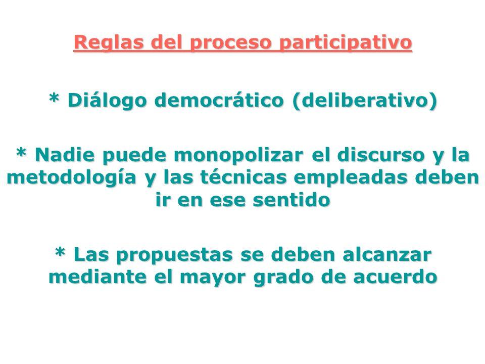 Reglas del proceso participativo