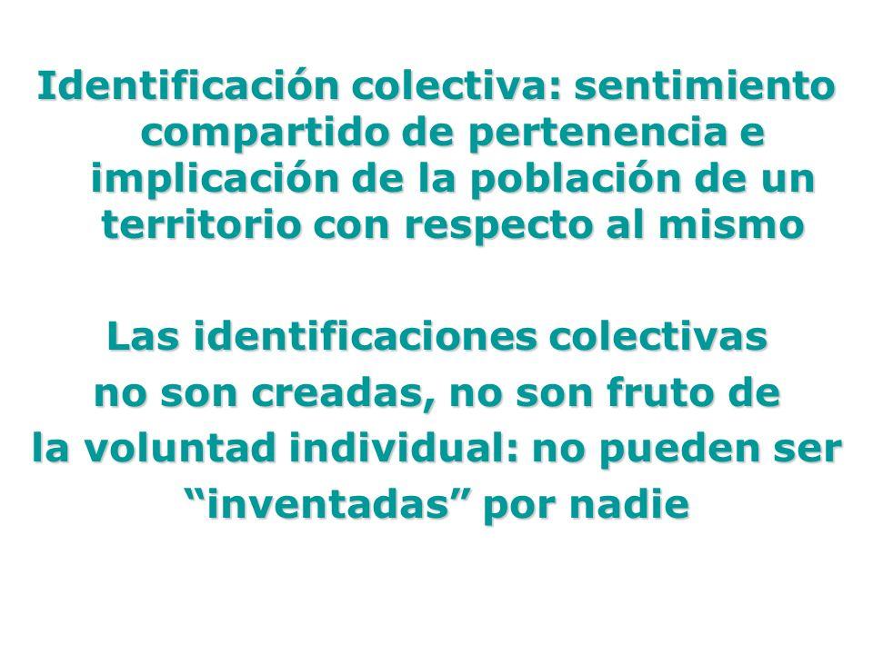 Las identificaciones colectivas no son creadas, no son fruto de