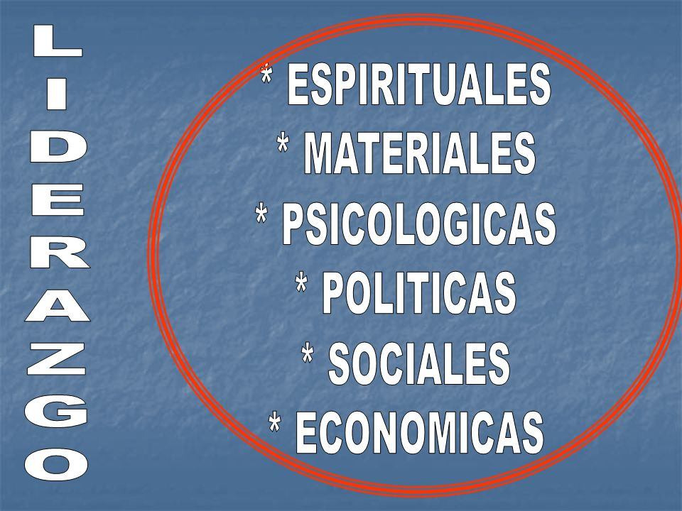 L I D E R A Z G O * ESPIRITUALES * MATERIALES * PSICOLOGICAS
