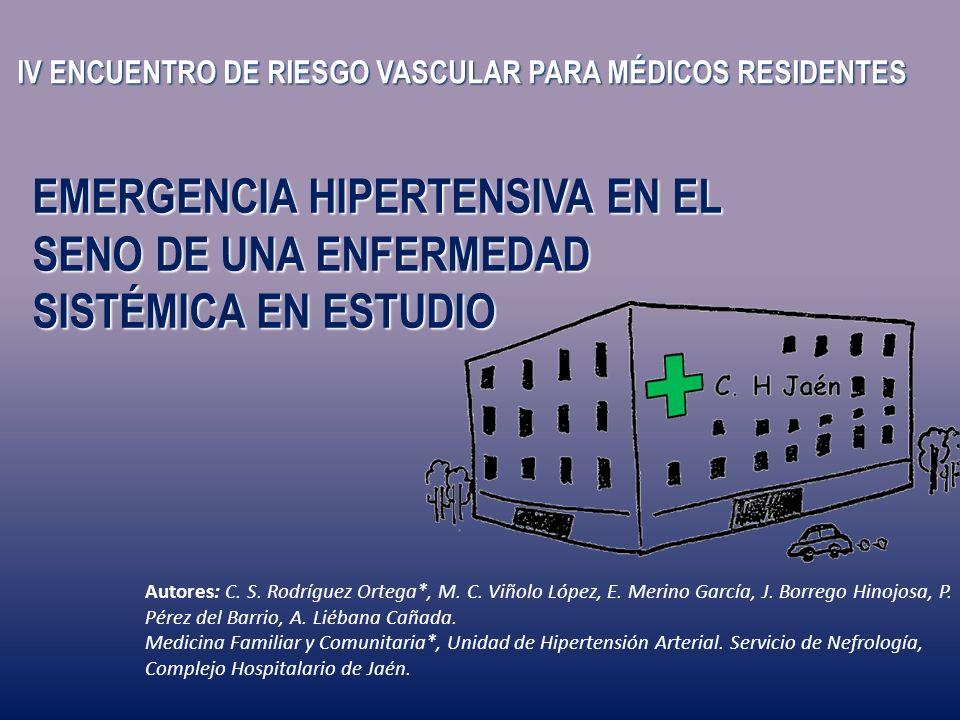 IV ENCUENTRO DE RIESGO VASCULAR PARA MÉDICOS RESIDENTES