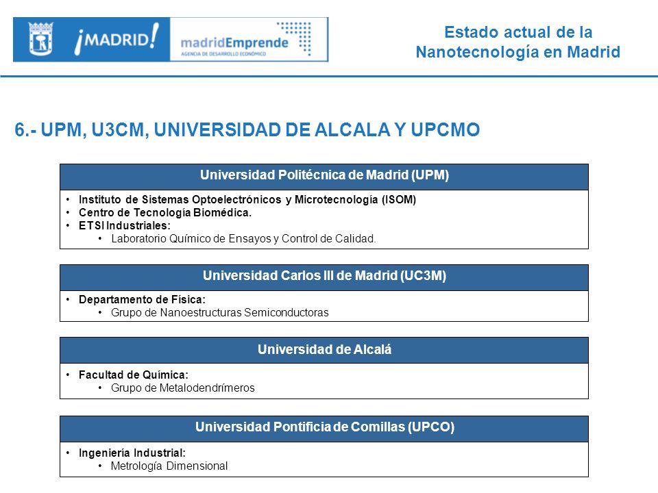 6.- UPM, U3CM, UNIVERSIDAD DE ALCALA Y UPCMO
