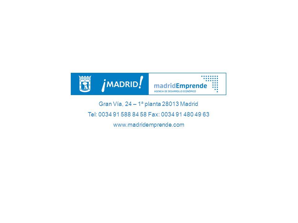 Gran Vía, 24 – 1ª planta 28013 Madrid