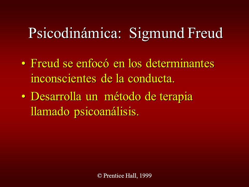 Psicodinámica: Sigmund Freud