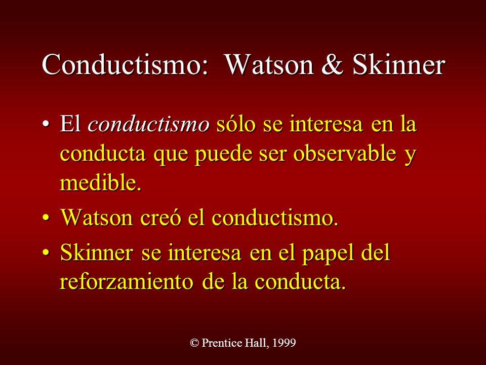 Conductismo: Watson & Skinner