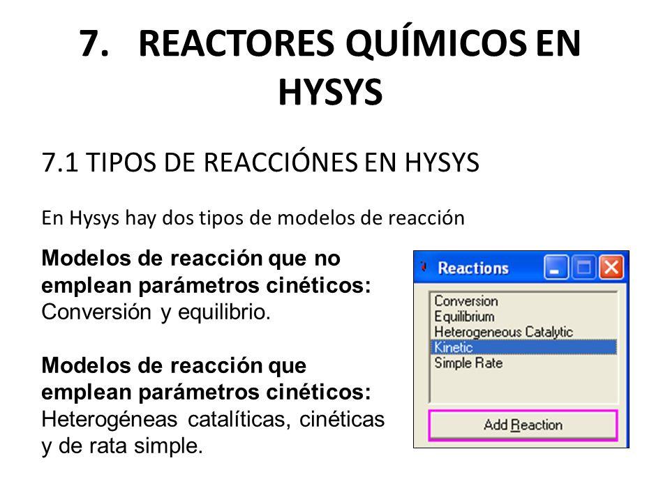 7. REACTORES QUÍMICOS EN HYSYS