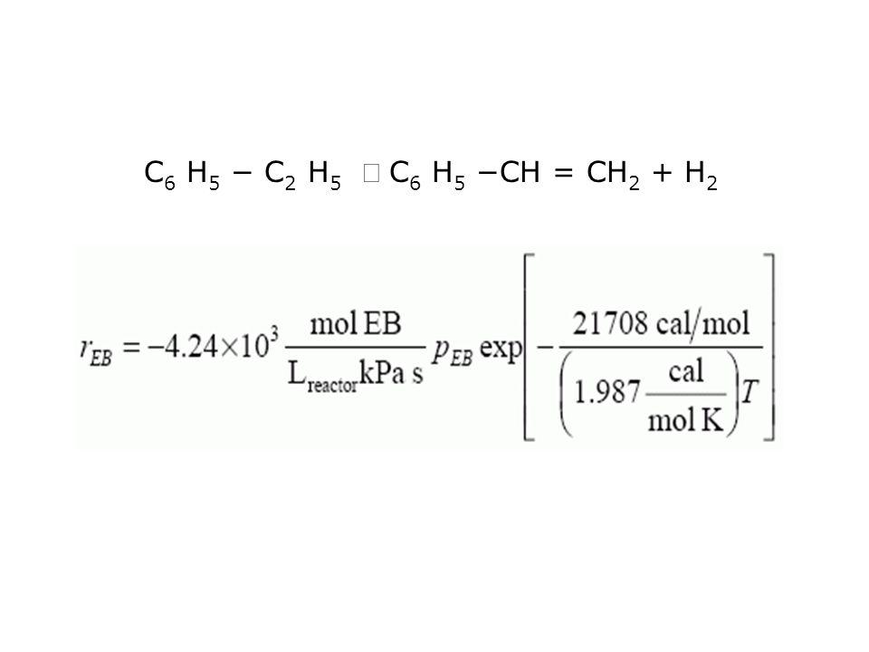 C6 H5 − C2 H5 Û C6 H5 −CH = CH2 + H2